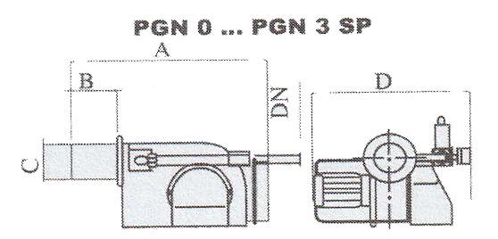 ابعاد حدودی مشعل گازی ایران رادیاتور مدل PGN