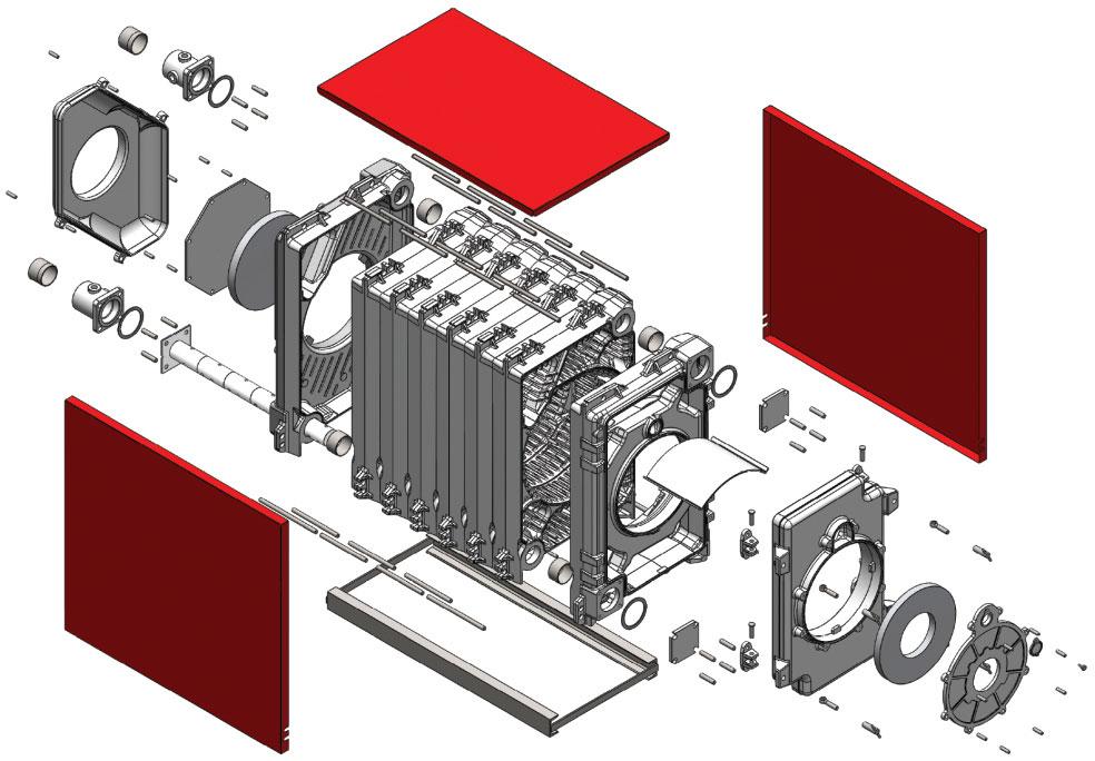 طراحی دیگ های چدنی شوفاژ کار مدل توربو