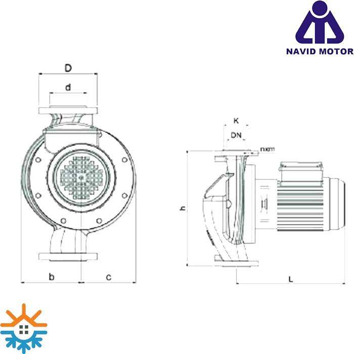 پمپ سیروکولاتور خطی نوید موتور